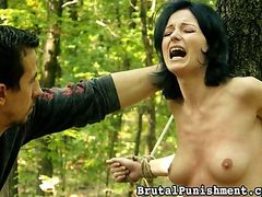 "Brutal Punishment - Does a bear shit in the woods? Does a Dominant discipline in the woods? You ""wood"" definitely want to see this!"