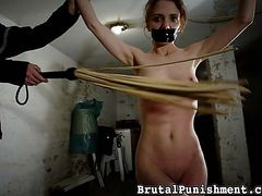 Spanking bdsm dvd for sale - Gagged, bound, and whipped, Lola is helpless in her utter captivity